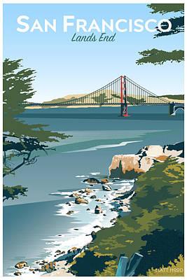 Digital Art - San Francisco Lands End by Matt Hood