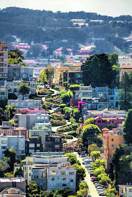 Painting - San Francisco Lombard Street by Christopher Arndt