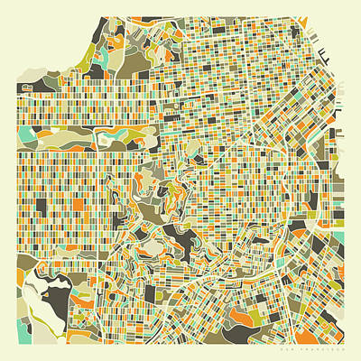 San Francisco Map 1 Art Print