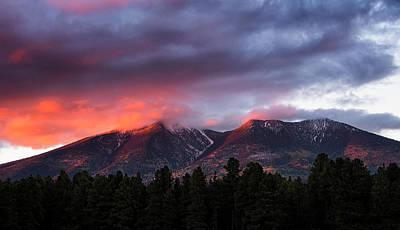 Photograph - San Francisco Peaks Sunset  by Saija Lehtonen