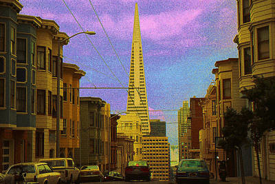 Painting - San Francisco Pyramid - Color Illustration Drawing by Peter Potter
