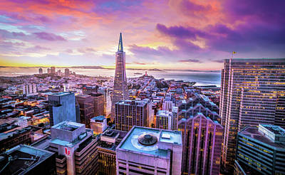 Painting - San Francisco Skyline by Christopher Arndt