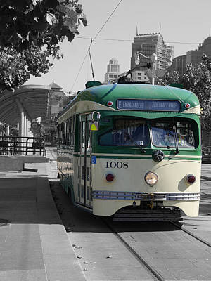 Photograph - San Francisco - The E Line Car 1008 by Richard Reeve