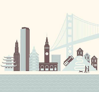 Digital Art - San Francisco Walk by Hey Darlin