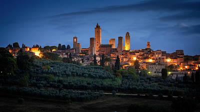 Art History Meets Fashion Rights Managed Images - San Gimignano Tuscany Italy Royalty-Free Image by Joan Carroll
