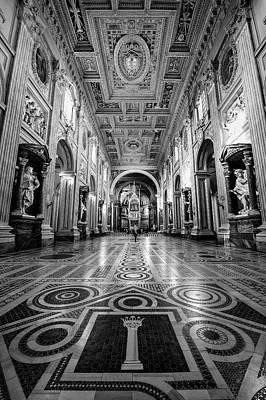 Wall Art - Photograph - San Giovanni In Laterano Rome Italy Bw by Joan Carroll