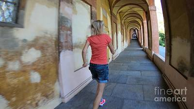 Photograph - San Luca Woman Running by Benny Marty