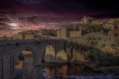 San Martin Bridge, Toledo Spain Original