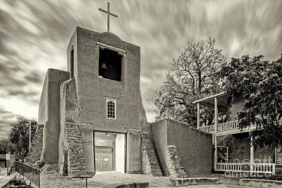 Photograph - San Miguel Mission And Chapel - Santa Fe The City Different New Mexico Land Of Enchantment by Silvio Ligutti