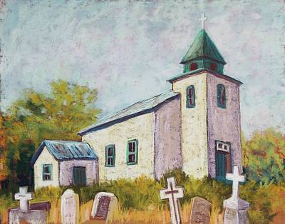 Wall Art - Pastel - San Patricio Church by Candy Mayer