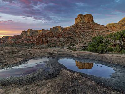 Photograph - San Rafael Canyon Sunrise by Leland D Howard