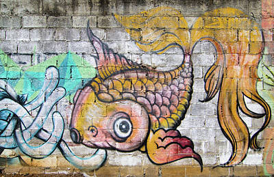 Beastie Boys - San Ramon Graffiti Fish by Norma Brandsberg
