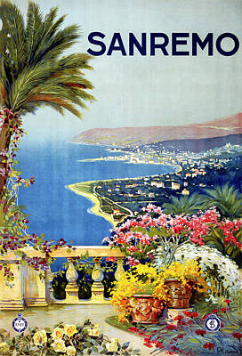 Photograph - San Remo Travel Poster by Graphicaartis