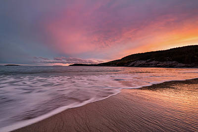 Photograph - Sand Beach Sunset by Darylann Leonard Photography