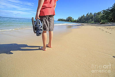 Photograph - Sand Between My Toes Maui Hawaii by Edward Fielding