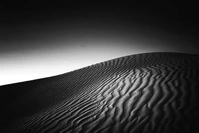 Photograph - Sand Dunes, Black And White - Australia by Robert Lang Photography