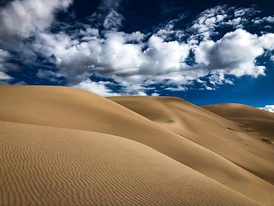 Photograph - Sand Dunes Under A Blue Sky by Kevin Schwalbe