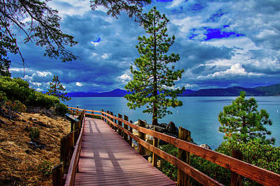 Photograph - Sand Harbor Boardwalk by Steph Gabler