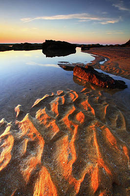 Photograph - Sand Ripples by Yury Prokopenko