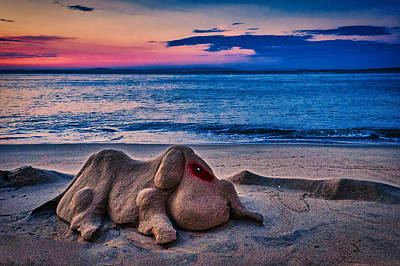Photograph - Sand Sculpture Dawn - Portugal by Stuart Litoff