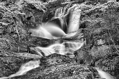 Photograph - Sanderson Brook Falls Black And White by Adam Jewell