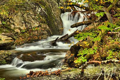 Photograph - Sanderson Brook Falls Casdades by Adam Jewell