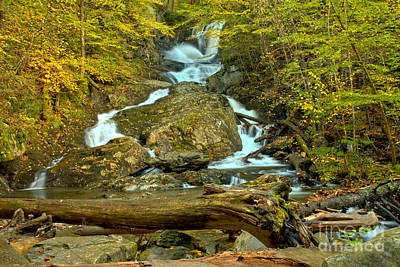 Photograph - Sanderson Brook Falls Fall Landscape by Adam Jewell