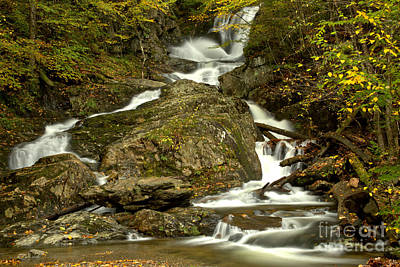 Photograph - Sanderson Brook Falls Streams by Adam Jewell