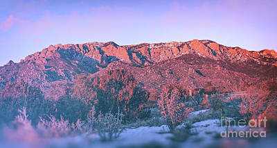 Photograph - Sandia Mountain Sunset by Susan Warren