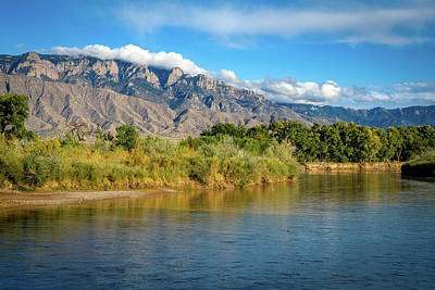 Photograph - Sandia Mountains and the Rio Grande by Howard Holley