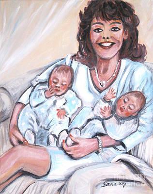 Painting - Sandra And  Her Babies by Oksana Semenchenko