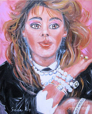 Painting - Sandra Singer. Portrait by Oksana Semenchenko