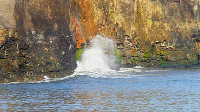 Photograph - Sandsend Cliffs - Power Even In Calm Waters by Chris Gill