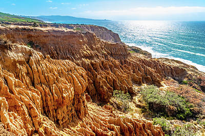 Photograph - Sandstone Cliff Views In San Diego by Debbie Ann Powell
