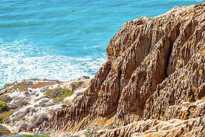 Photograph - Sandstone Cliffs In San Diego by Debbie Ann Powell