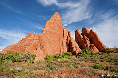 Photograph - Sandstone Fins by Jeff Goulden