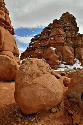 Photograph - Sandstone Goblins Along Highway 24 Near Hanksville Ut by Ray Mathis