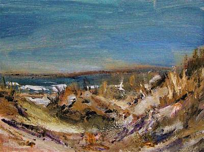 Painting - Sandy Neck Winter Scene by Michael Helfen