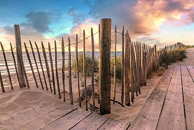 Photograph - Sandy Path On The Dunes Evening Glow by Debra and Dave Vanderlaan