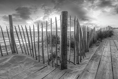 Photograph - Sandy Path On The Dunes In Black And White by Debra and Dave Vanderlaan
