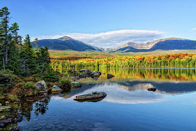 Sandy Stream Pond Baxter Sp Maine Art Print