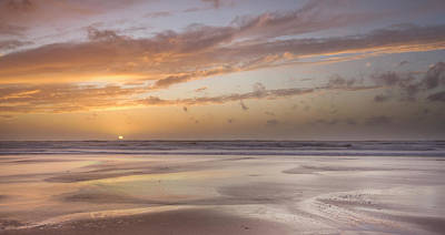 Photograph - Sandymouth Beach At Sunset, Cornwall by Lizzie Shepherd / Robertharding