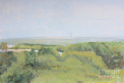 Painting - Sankaty Light Afternoon Light by Candace Lovely