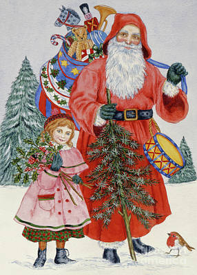 Painting - Santa And His Helper by Catherine Bradbury