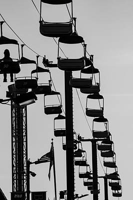 Photograph - Santa Cruz Boardwalk California I Bw by David Gordon