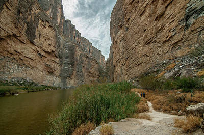 Photograph - Santa Elena Canyon Hikers by Matthew Irvin
