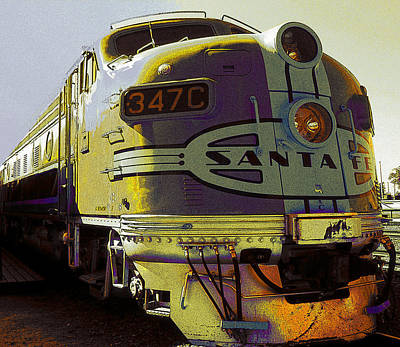 Santa Fe Railroad 347c - Digital Artwork Art Print