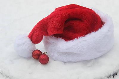 Edward Hopper - Santa Hat And Ornaments 5 by Cathy Lindsey
