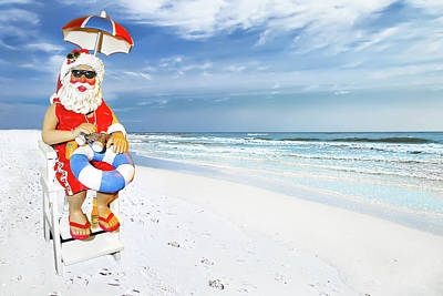 Photograph - Santa Lifeguard by Kay Brewer