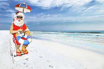 Santa Lifeguard Art Print